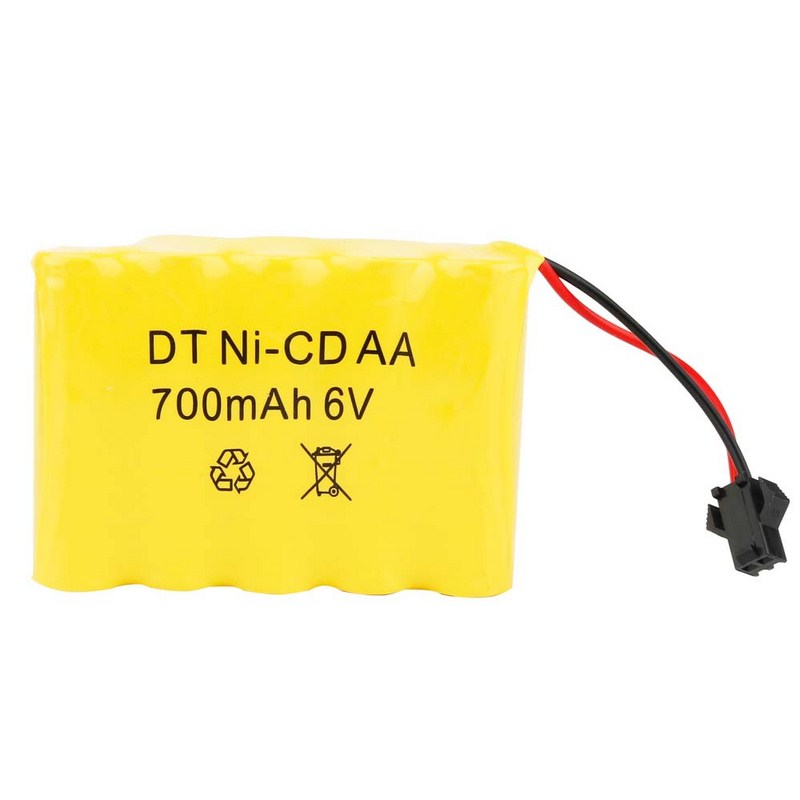 Ni-CD 700mAh 6V AA Truck Battery For WPL B-24/ B-1 Remote Control Truck DIY Accessories & Parts DIY Assembled Parts Accessories ewellsold 2pcs lot 4 8v 700mah ni cd aa battery for rc car