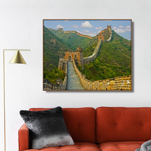лучшая цена Chinese The Great Wall Scenery Wall Art Poster PrintCanvas Painting Calligraphy Decorative Picture for Living Room Home Decor