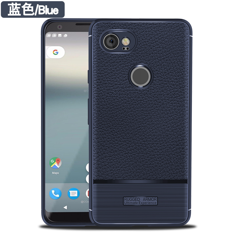 Case for Google Pixel2 XL Soft Silicone Phone Cover Litchi Pattern Protective Fitted Amor Phone Back Cases for Google Pixel 2 XL
