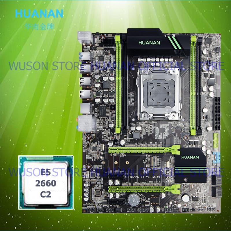 HUANAN scheda madre CPU set X79 V2.49 scheda madre Intel Xeon E5 2660 C2 4 canali di RAM supporto 64G il più tutti testati in WIN7