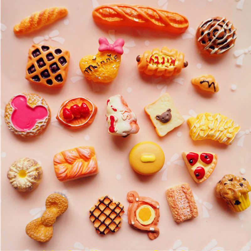 20PCS Artificial Food Lollipop Candy Decor Figurine Cabochon Kawaii Toy Dollhouse/Miniatures DIY Phone Case Accessories Material