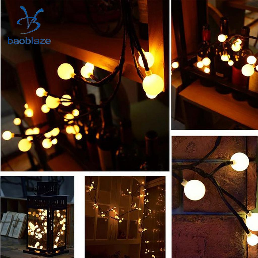 5m 50LEDs Fairy String Lights Home Festival Party Decor Lighting Warm White