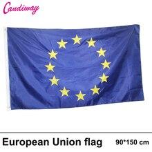European Union Flag 3ft x 5ft Polyester EU National Flag NEW 90* 150cm Home Decoration flag banner