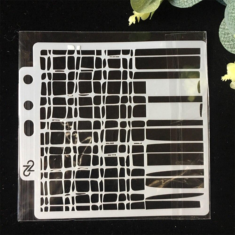 5inch Mesh Grid Net DIY Layering Stencils Wall Painting Scrapbook Coloring Embossing Album Decorative Paper Card Template