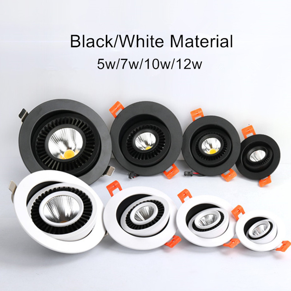 HTB1MAoibwaH3KVjSZFjq6AFWpXa5 Dimmable Led Down light lamp COB Ceiling Light 5w 7w 10w 12w 85-265V recessed ceiling Spot Lights for kitchen bedroom home Decor