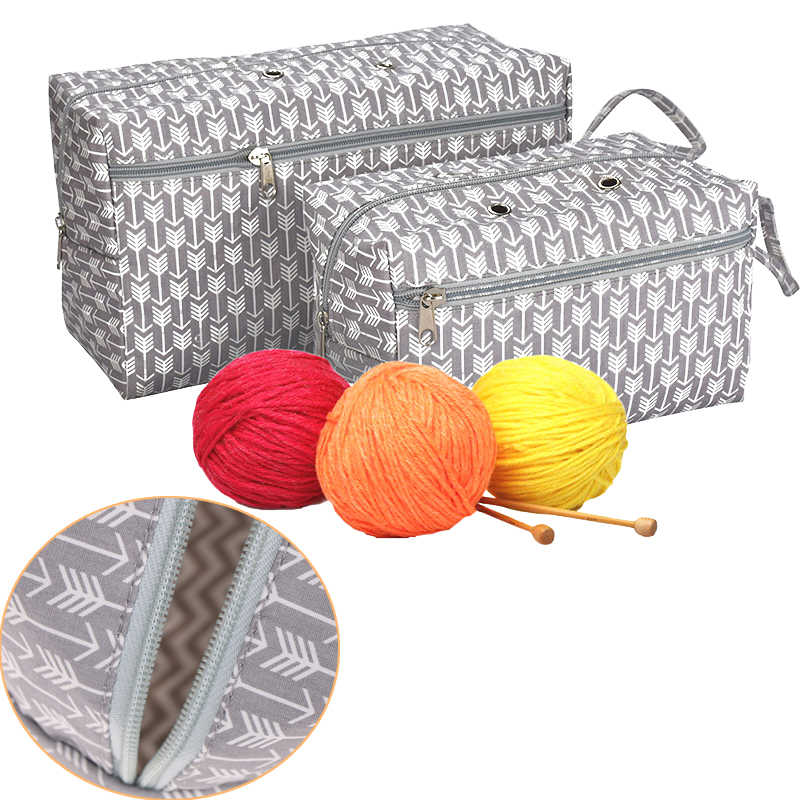 New Portable Yarn Holder Tote for Travel Yarn Storage Bag Organizer with Divider for Crocheting Knitting Organization