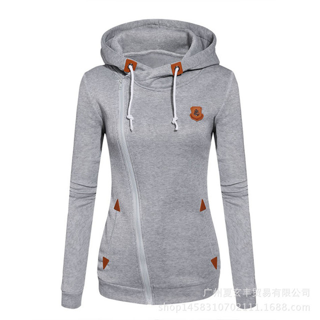 573d677d5da Fashion Hoodies Cool Side Zipper Sweatshirts New 2016 Girls Hoodies Female  Casual Thick Fleece Hoodies Autumn Clothes Pullovers
