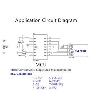 Image 5 - 3pcs 2.4G 무선 데이터 전송 통신 모듈 및 칩 KSL297 유사한 NRF24L01 원격 제어에 사용 하여 저렴 한 비용