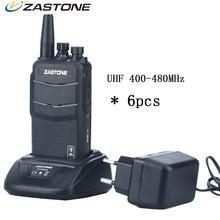 6pcs Zastone ZT-V1000 CB Radio Waterproof HF Transceiver UHF 400-480MHz 8W 2000mAh Walkie Talkie Two Way Radio Communicator