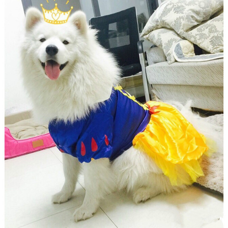 Big dog dress winter large dog clothes princess dresses for Wedding dress for dog