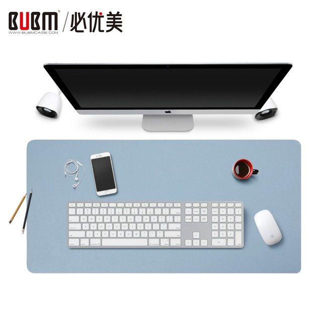 Bubm Smooth Leather Desk Mat Protector Large Gaming Mouse Pad Perfect Writing For Office And Home