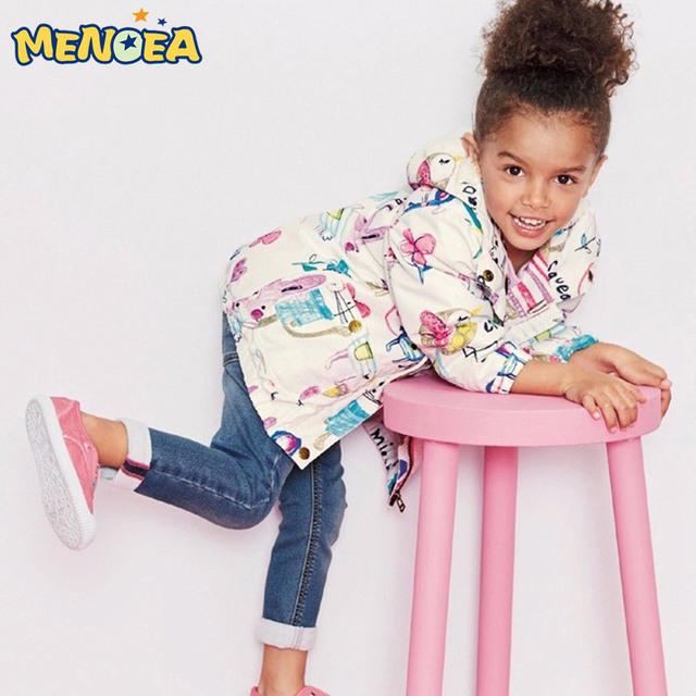 Menoea 2017 Nuevas Chicas de Moda Otoño Abrigos y Chaquetas Con Capucha Para Niños Niños Niñas Chaquetas outwear para Las Niñas Ropa de la Historieta