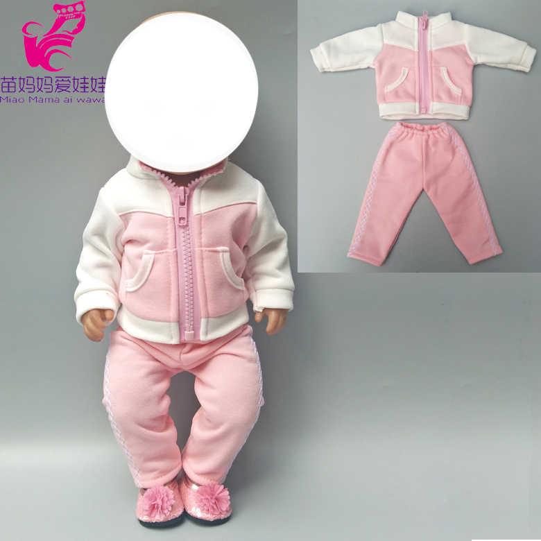 """Подходит для 43 см Одежда для куклы-младенца пуховое пальто и узкие брюки для 18 """"Девочка Кукла куртка Детская кукла игрушки одежда"""