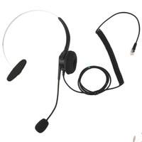 Top Quality Crystal Head Set Telephone Monaural Corded Headset 4 Pin Black