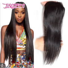 Prat li&queen middle malaysian products straight lace closure human virgin free