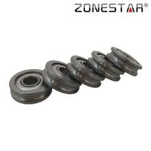 ZONESTAR 5pcs lot 3D Printer Extruder U groove Guide Wheel Size 4 13 4mm