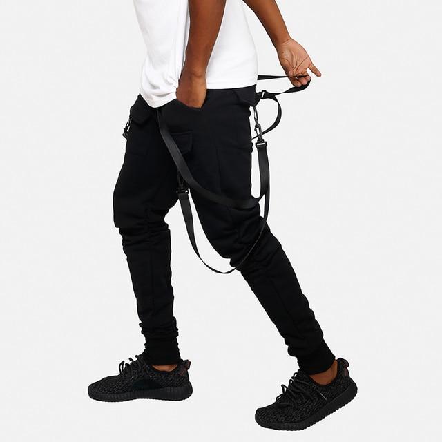 HEYGUYS 2018 New Dry Men's Pants pocket Full Length Men HIPHOP joggers Pants Plus Size Trousers  men belt women streetwear 32