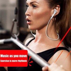 Image 5 - Sport z pałąkiem na kark bezprzewodowe słuchawki muzyka słuchawki douszne zestaw głośnomówiący Bluetooth słuchawki z mikrofonem dla wszystkich telefonów Samsung Huawei