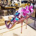 Purple Upper Sexy Pointed Toe Colorful Butterfly Decoration Thin High Heel Women Shoes Slip On Pumps Party Even Stilettos Shoes