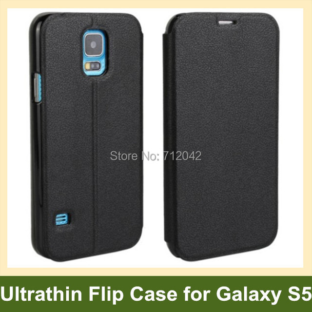 Popular Ultrathin PU Leather Flip Cover Phone Case for Samsung Galaxy S5 SM-G900F with Stand Holder Free Shipping