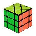 Yongjun yj quadrado king fisher inclinação de 3x3x3 magic speed cube cabeças de plástico cubos brinquedos educativos para crianças dos miúdos