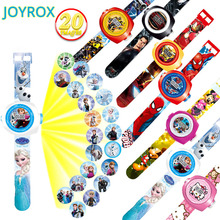 Children Watch Spiderman Projection Cartoon Pattern Digital Child Watches For Boys Girls LED Display Kids Clock Reloj Relogio