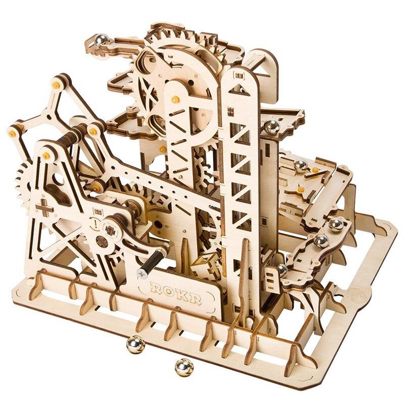 Robotime DIY башня Coaster Magic Творческий мрамор Run игры 3D головоломки деревянные модели строительство Наборы сборки игрушка в подарок для мальчико