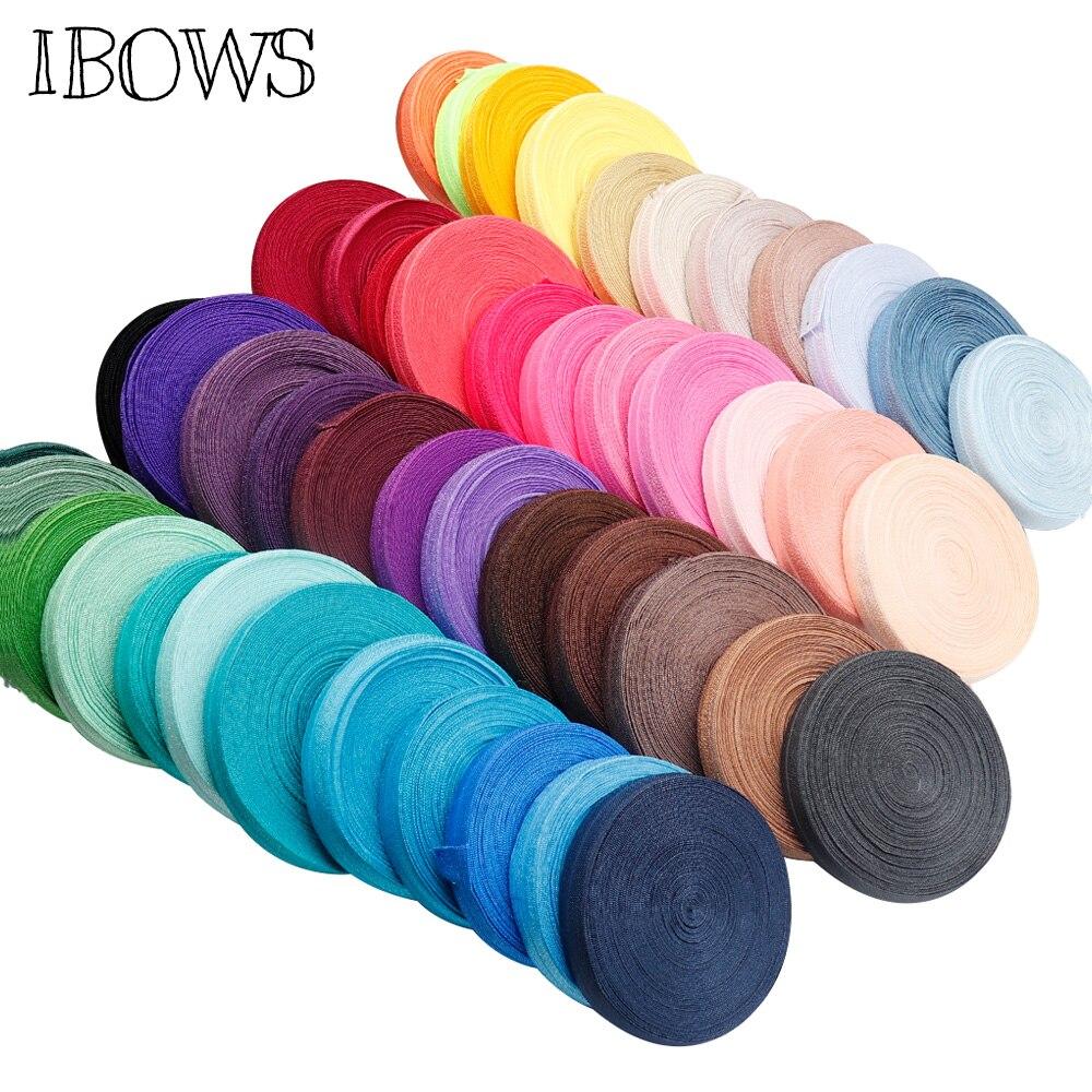 10 ярдов одноцветная дешевая блестящая Складная эластичная повязка из спандекса для детей повязка на голову для волос платье кружево отделка шитье 5/8 «15 мм