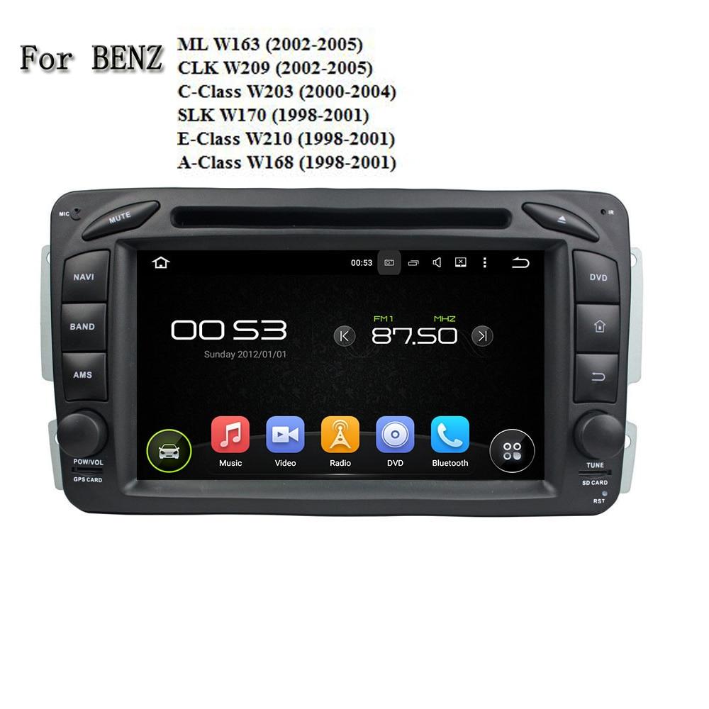 2 DIN Автомобильный руль Android 5.1 GPS навигации Радио Сенсорный экран Bluetooth DVD Мультимедиа Видео плеер для BENZ универсальный
