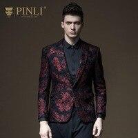 Free shipping New fashion casual men's male England gentleman Spring clothes jacquard slim suit blazer jacket B171106021