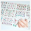 1 Big Sheet 12Pcs Cute Animals Easter Pattern 3D Nail Art Stickers Water Decals Decoration