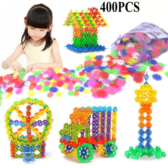 With Instructions 400 Pcs 3d Puzzle Jigsaw Plastic Snowflake