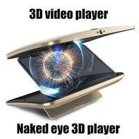Новый mp4 плеер голые глазами 3D плеер невооруженным глазом 3D плеер встроенный аккумулятор WI FI bluetooth Поддержка TF для ios android мобильный телефон