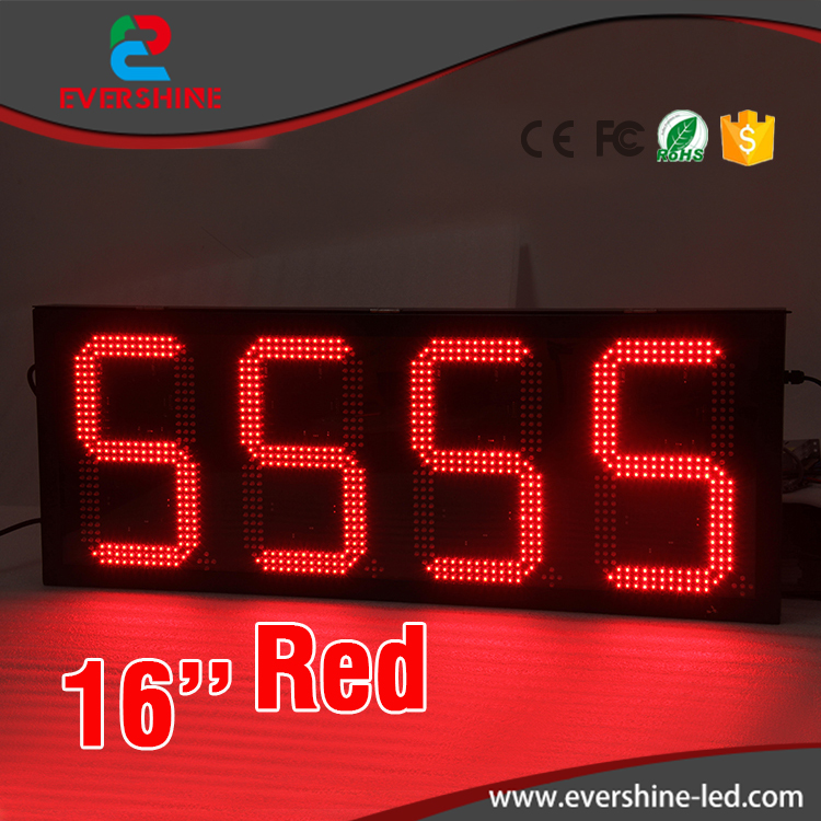 traffic message sign 16 inch red single color digital outdoor LED screen/display gas station price display hd high quality led gas price display sign outdoor led billboard green color 12 outdoor led display screen