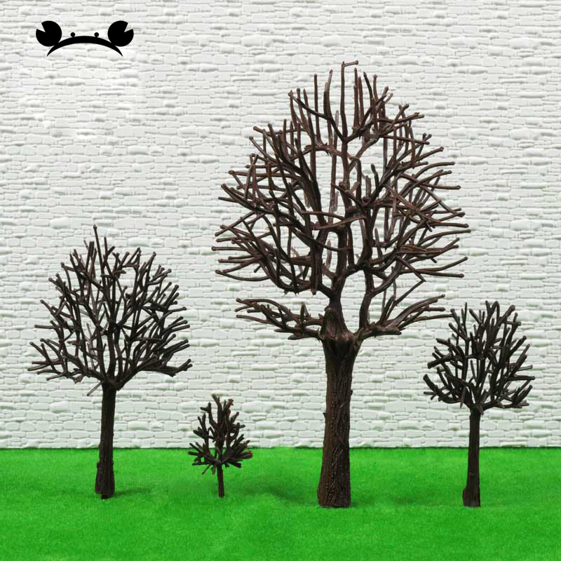 50Pcs Plastic Artificial Model Trunk Tree Tress Leafless Train Railway Scenery