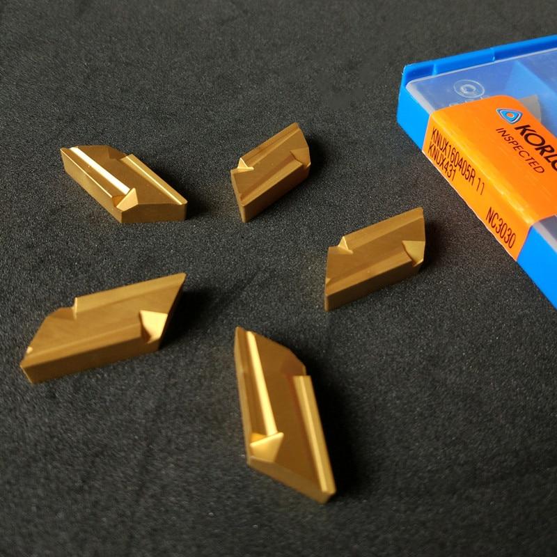 Inserção de Carboneto de Tungstênio Ferramenta de Corte Ferramenta de Torneamento de Aço Substituído Korloy Inserções Nc3030 Knux160405r Knux160405l Knux160405r-11