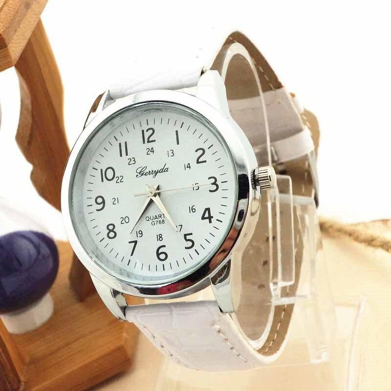Dress Casual Women's Watch Elegant Analog Luxury Sports Leather Strap Quartz Mens Wrist Ladies Watch Wristwatches Relogio