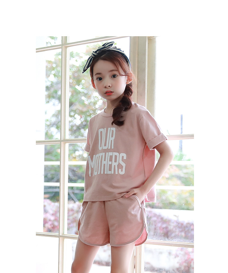 active girls sets 2017 cotton little teenagers kids girls sport suits set girls clothing sets 2017 new summer girls clothes tops shorts 2 pieces set 5 6 7 8 9 10 11 12 13 14 15 16 years old (13)