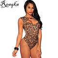 Sexy V Neck Backless Bodycon Jumpsuit Romper Womens Jumpsuit Tops Elastic Slim Short sleeve Jumpsuit Black Leopard Bodysuit XL