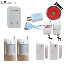 New WIFI Home Burglar Alarm System English Russian Chinese Simple Design Wifi Network Alarm System Android IOS APP Push Alarm