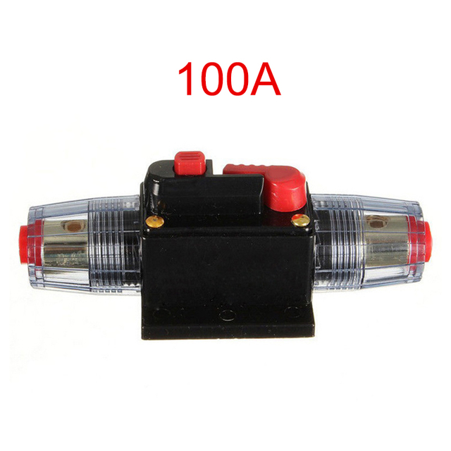 Best Price 20-100A 12V Car Truck Audio Amplifier Circuit Breaker Fuse Holder AGU Stereo Amplifier Refit Adapter XR657
