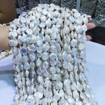 Perlas naturales de agua dulce de alta calidad 36 cm perlas sueltas perforadas DIY señoras collar pulsera producción 12-16