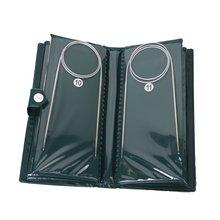Практичные 11 шт. 80 см спицы круговые из нержавеющей стали 1,5 мм-5,0 мм