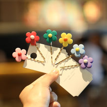 Lovely Flowers BB Clips Girls Hair Accessories Kids Hairpins Children Headwear Baby Hair Clips Headdress(China)