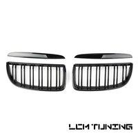 For BMW 3 Series E90 2005 2007 Double Slats Gloss black/Matt black/Triple Color+Chrome Front Grille