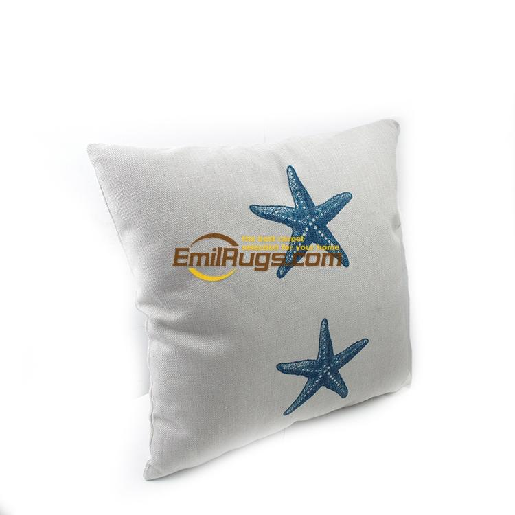 Cotton and Hemp Printing Sea Animal Starfish do Old style cushions small fresh coffee shop decoration 63gc154yg2
