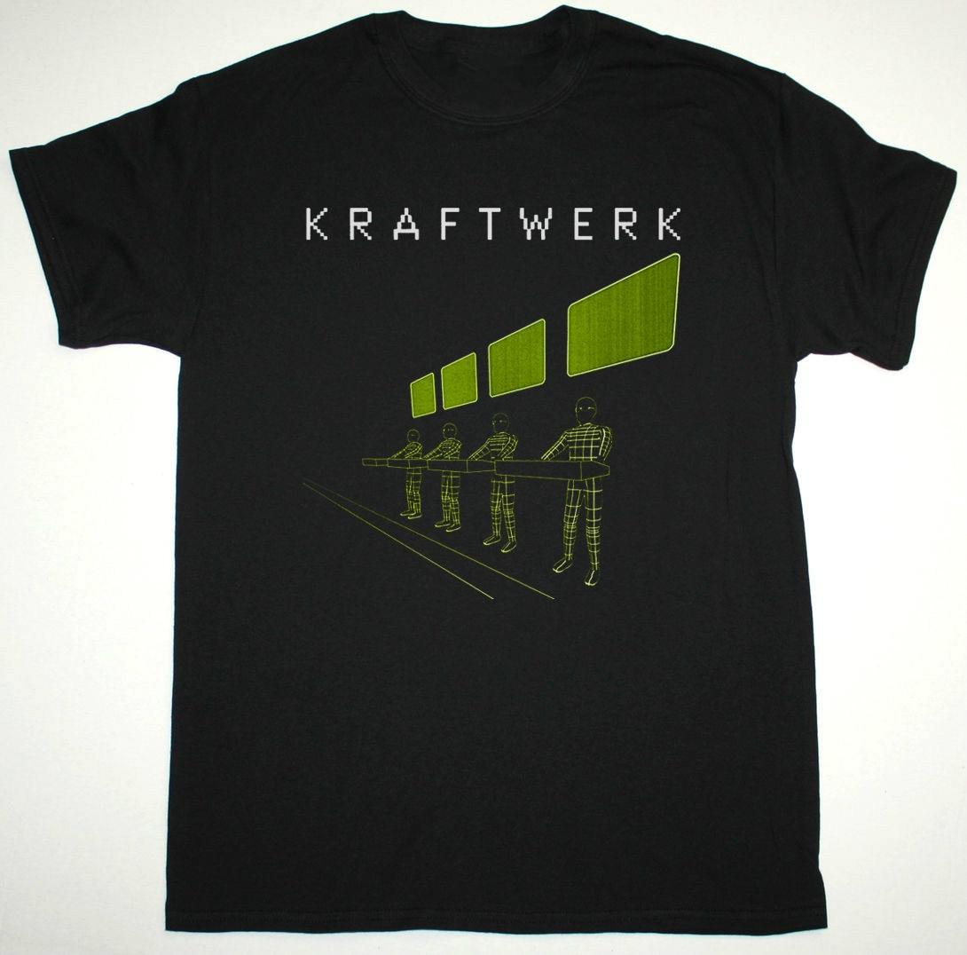 KRAFTWERK EXPO REMIX BLACK T SHIRT ELECTRONIC KRAUTROCK NEU! FRONT 242 ULTRAVOX Men T Shirt Great Quality Funny Man Cotton