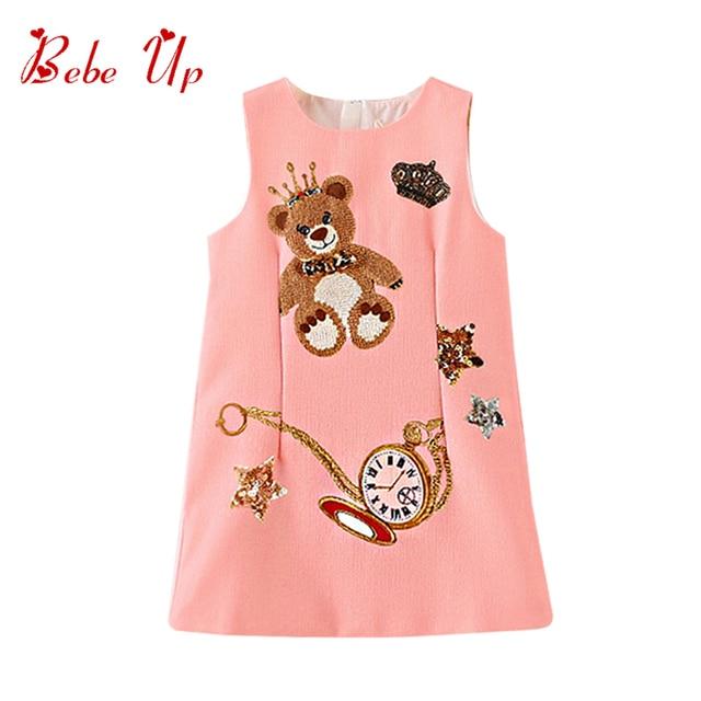 Aliexpress Com Buy Kids Dresses For Girls Bear Star Animal Print
