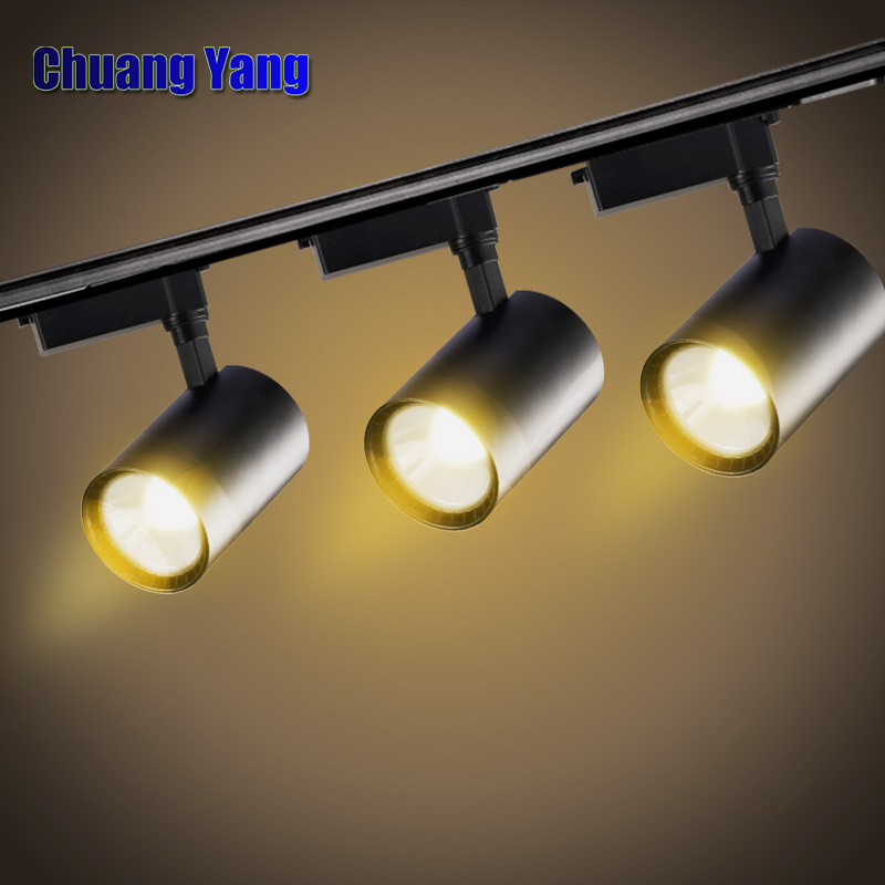 4pcs/lot 12W 20W 30W COB LED Track Light Spot Light Ceiling Mounted Rail Track Lamp Decorative Led spotlight радар детектор sho me g 800 signature gps приемник