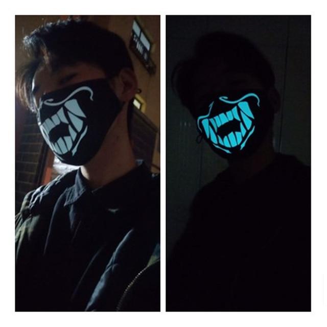 Game LOL K/DA KDA Akali The Rogue Assassin S8 Cosplay Props Boys Girls Teens Night Lights Mask Face Cotton Mask Accessories 5
